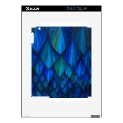 Dark Blue Cave Bat Pattern (dark blue pattern) Skin For iPad 2