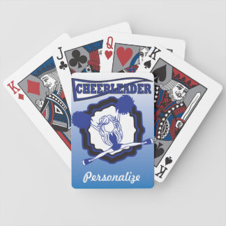 Dark Blue Cheerleader   Personalize Bicycle Playing Cards
