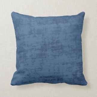 Dark Blue Chenille Fabric Texture Throw Pillow