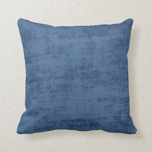 Blue Chenille Throw Pillows : Dark Blue Chenille Fabric Texture Throw Pillow Zazzle