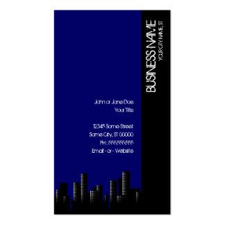dark blue cityscape business card