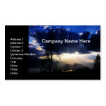 Dark Blue Clouds Business Card