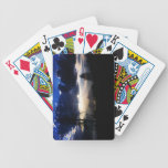 Dark Blue Clouds Sun Playing Cards