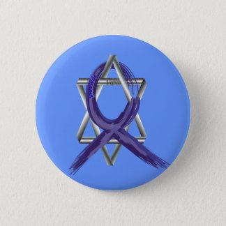 Dark Blue Colon Cancer Survivor Ribbon Button