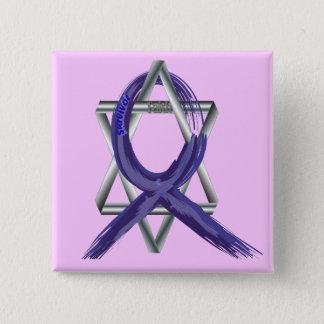 Dark Blue Colon Cancer Survivor Ribbon Pinback Button