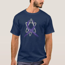 Dark Blue Colon Cancer Survivor Ribbon T-Shirt