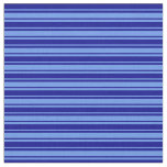 [ Thumbnail: Dark Blue & Cornflower Blue Colored Pattern Fabric ]