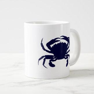 Dark Blue Crab 2 20 Oz Large Ceramic Coffee Mug