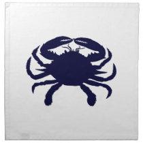 Dark Blue Crab Napkin