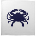 Dark Blue Crab Napkins