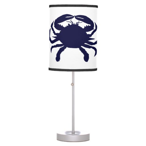 dark blue crab table lamps zazzle. Black Bedroom Furniture Sets. Home Design Ideas