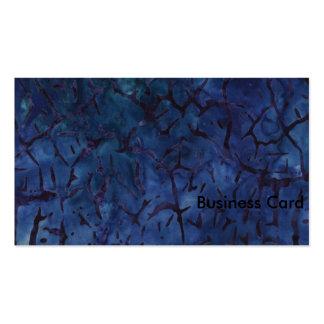 Dark Blue Crackle Standard Business Cards