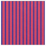 [ Thumbnail: Dark Blue & Crimson Lines Pattern Fabric ]