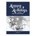 Dark Blue Custom Holiday Cards Custom Announcements