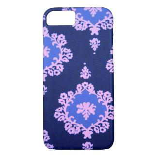 dark blue damask iPhone 7 case