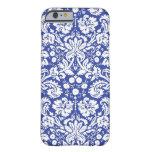 Dark blue damask pattern iPhone 6 case