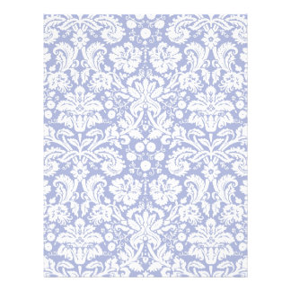 Dark blue damask pattern letterhead