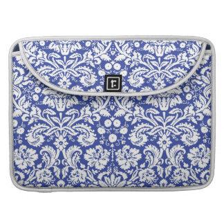 Dark blue damask pattern MacBook pro sleeve