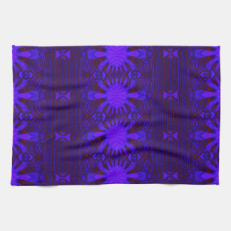 dark blue decorative design towel