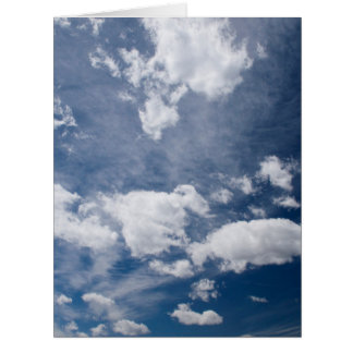 Dark blue deep sky card