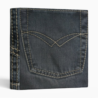 Dark Blue Denim 3 Ring Binder
