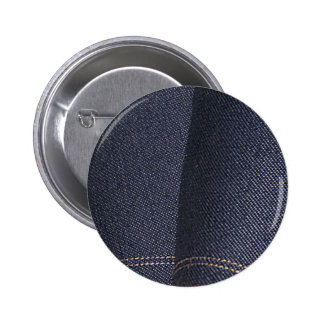 Dark Blue Denim Pinback Buttons