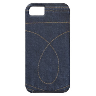 Dark Blue Denim Pocket iPhone 5 Case