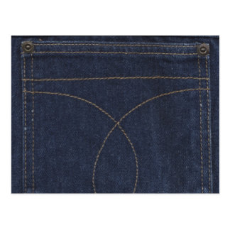 Dark Blue Denim Pocket Postcard