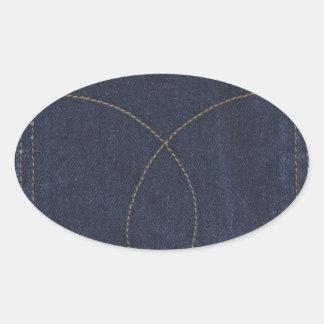 Dark Blue Denim Pocket Sticker