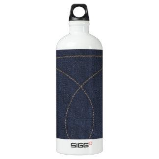 Dark Blue Denim Pocket Water Bottle