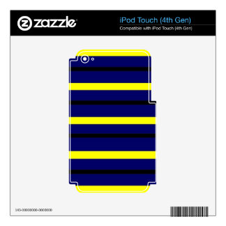 Dark Blue Derby Stripe iPod Touch 4G Skins
