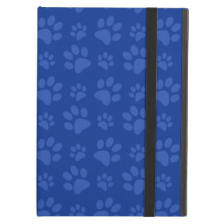 Dark blue dog paw print pattern iPad air cover