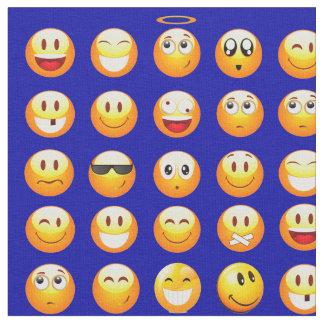 dark blue emojis fabric