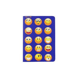 dark blue emojis passport cover