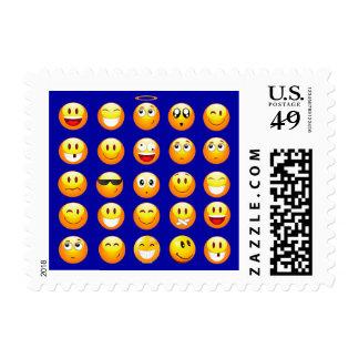 dark blue emojis postage postal stamps