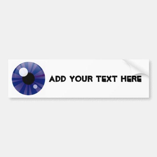 Dark Blue Eye Bumper Sticker