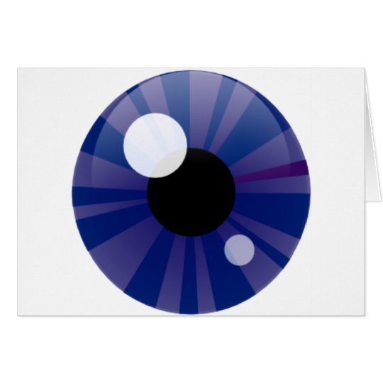 Dark Blue Eye Card