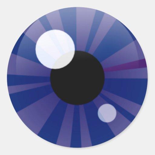 Dark Blue Eye Round Sticker