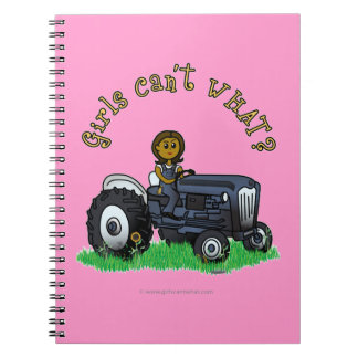 Dark Blue Farmer Girl Notebook