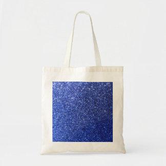 Dark blue faux glitter graphic bags