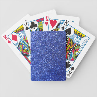 Dark blue faux glitter graphic bicycle playing cards