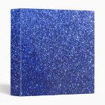 Dark blue faux glitter graphic binder