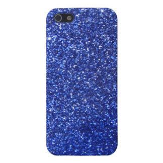 Dark blue faux glitter graphic case for iPhone SE/5/5s