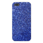 Dark blue faux glitter graphic cover for iPhone 5