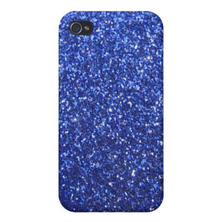 Dark blue faux glitter graphic iPhone 4/4S case