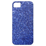 Dark blue faux glitter graphic iPhone 5 covers