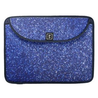 Dark blue faux glitter graphic MacBook pro sleeves