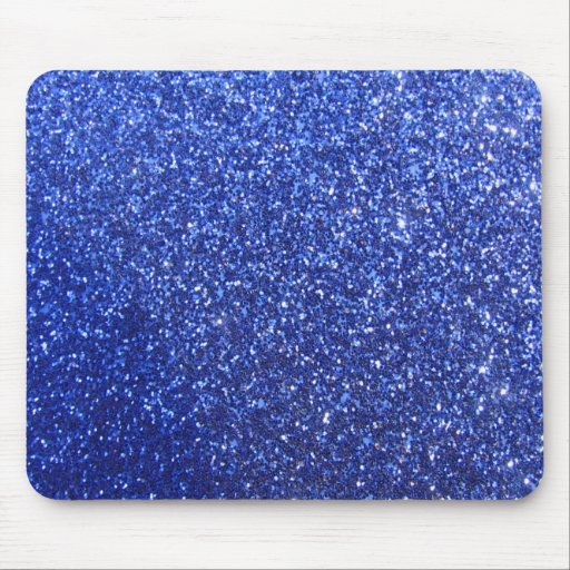 Dark blue faux glitter graphic mouse pads