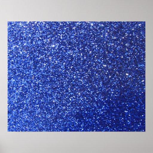 Dark blue faux glitter graphic print