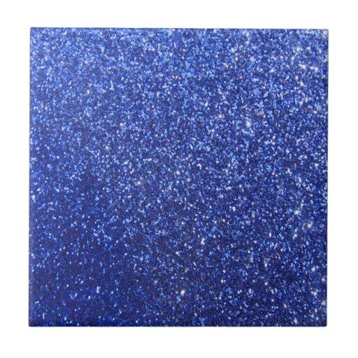 Dark blue faux glitter graphic tiles